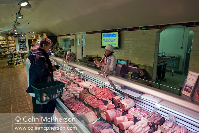 An internal view of the retail outlet at Cheerbrook Quality Farm Food Ltd at Nantwich, Cheshire. The business has a delicatessen and an on-site butchery and is included in one of the newly-established Cheshire Food Trails.