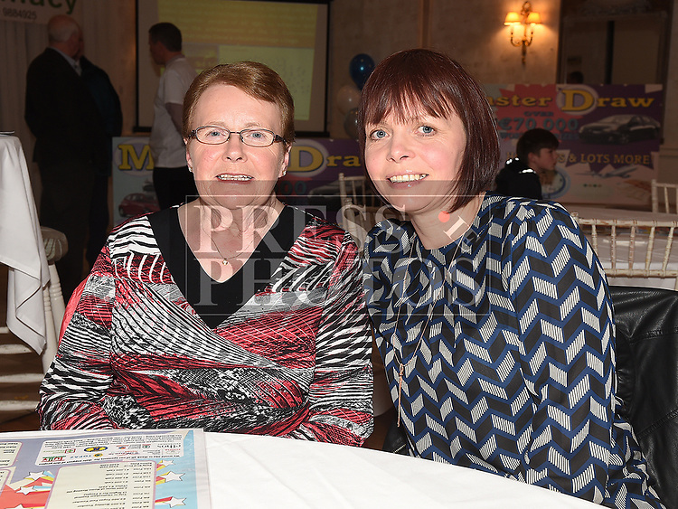 Mary O'Brien and Caroline gallagher at the launch of Slane Community Centre monster draw in the Conyngham Arms hotel. Photo:Colin Bell/pressphotos.ie