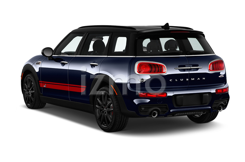 Car pictures of rear three quarter view of a 2018 Mini Clubman John Cooper Works 5 Door Wagon angular rear