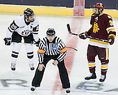 Adam Presizniuk (Union - 29), Scott Hansen, Justin Fontaine (Duluth - 37) - The University of Minnesota-Duluth Bulldogs defeated the Union College Dutchmen 2-0 in their NCAA East Regional Semi-Final on Friday, March 25, 2011, at Webster Bank Arena at Harbor Yard in Bridgeport, Connecticut.