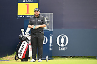 Shane Lowry (IRL) on the 1st tee during final round of the 148th Open Championship, Royal Portrush golf club, Portrush, Antrim, Northern Ireland. 21/07/2019.<br /> Picture Fran Caffrey / Golffile.ie<br /> <br /> All photo usage must carry mandatory copyright credit (© Golffile | Fran Caffrey)