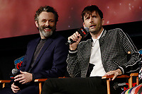 NEW YORK, NY - OCTOBER 6: Michael Sheen and David Tennant at the Good Omens panel during the 2018 New York Comic Con at The Hulu Theatre at Madison Square Garden in New York City on October 6, 2018. <br /> CAP/MPI99<br /> ©MPI99/Capital Pictures