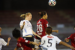 (L to R)  Clare Polkinghorne (INAC), Ami Otaki (Reds Ladies),<br /> AUGUST 17,2014 - Football / Soccer : 2014 Nadeshiko League, between Urawa Reds Ladies 0-1 INAC KOBE LEONESSA at Urawakomaba Stadium, Saitama, Japan. (Photo by Jun Tsukida/AFLO SPORT)