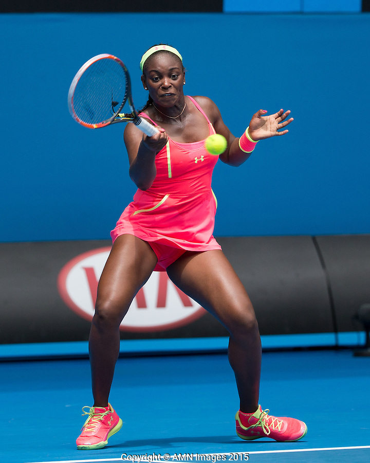 Sloane Stephens (USA)<br /> <br /> Tennis - Australian Open 2015 - Grand Slam -  Melbourne Park - Melbourne - Victoria - Australia  - 20 January 2015. <br /> &copy; AMN IMAGES
