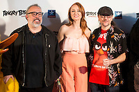 Alex de la Iglesia, Cristina Castaño and Santiago Segura during the photocall of the kid premiere of the film Angry Birds in Madrid, May 07, 2016. (ALTERPHOTOS/BorjaB.Hojas) /NortePhoto.com