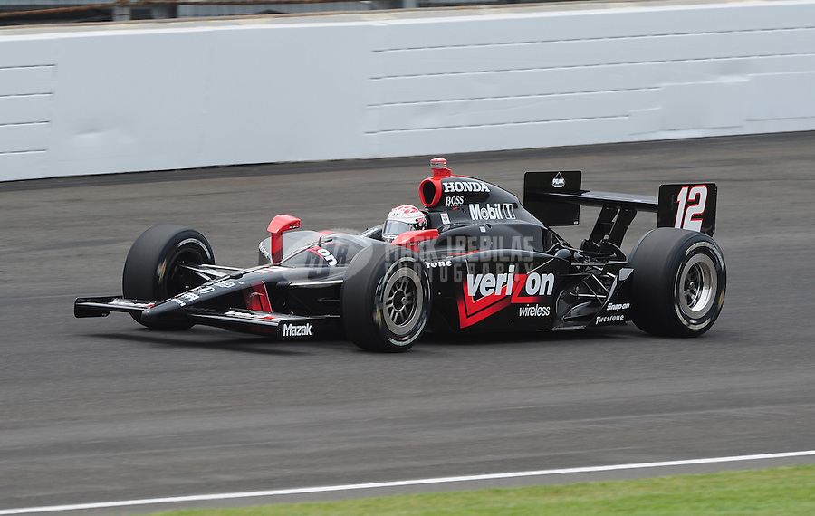 May 24, 2009; Indianapolis, IN, USA; IRL driver Will Power during the 93rd running of the Indianapolis 500 at Indianapolis Motor Speedway.  Mandatory Credit: Mark J. Rebilas-