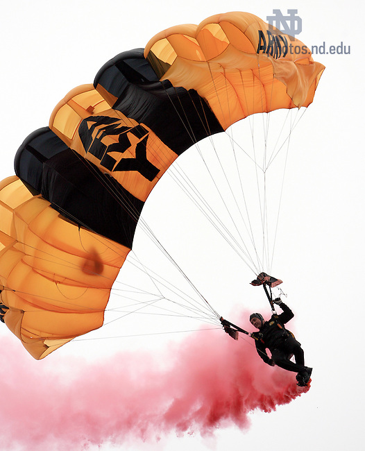 Nov. 18, 2006; South Bend, IN, USA; The Black Knights parachute in to the Stadium before the game between Notre Dame and Army at Notre Dame Stadium...Photo by Matt Cashore