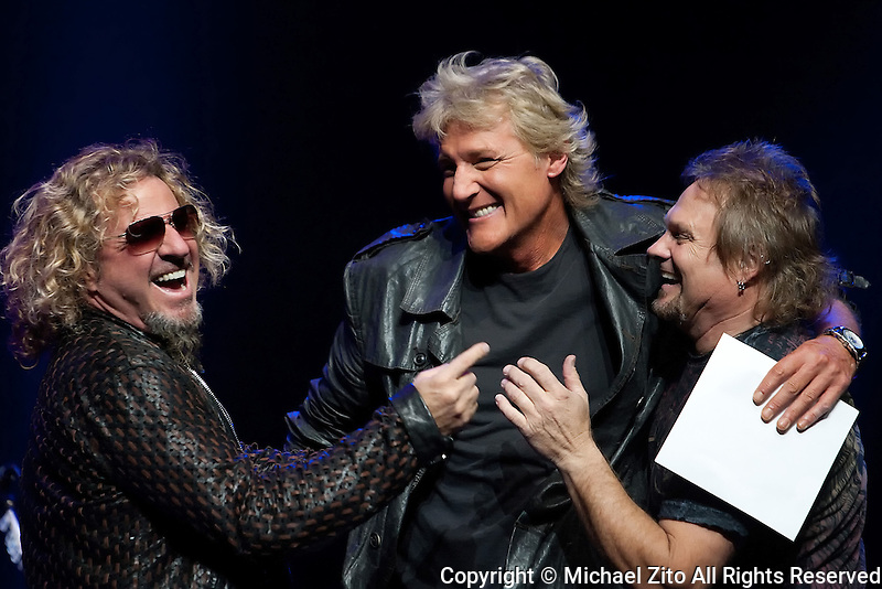 December 15, 2011 Los Angeles, CA: Sammy Hagar, Brian Phelps and Michael Anthony during the 95.5 KLOS Mark & Brian Christmas Show held at the Nokia Theatre at LA Live.