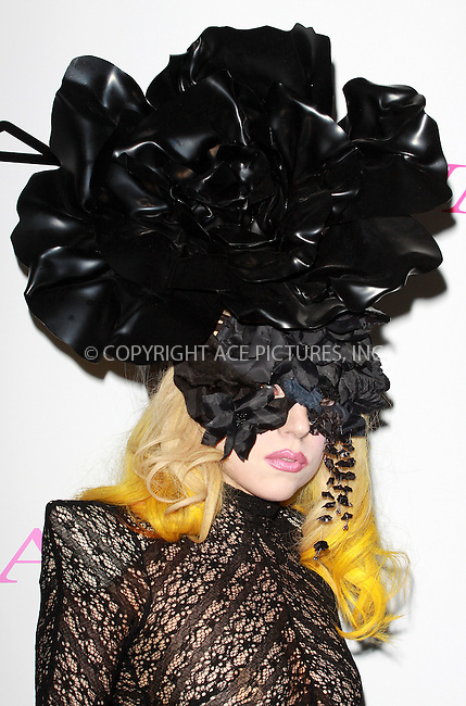 WWW.ACEPIXS.COM . . . . .  ..... . . . . US SALES ONLY . . . . .....March 1 2010, London....Lady Gaga at a photocall for MAC VIVA GLAM at Il Bottaccio on March 1 2010 in London....Please byline: FAMOUS-ACE PICTURES... . . . .  ....Ace Pictures, Inc:  ..tel: (212) 243 8787 or (646) 769 0430..e-mail: info@acepixs.com..web: http://www.acepixs.com
