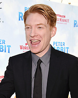 LOS ANGELES, CA - FEBRUARY 03: Actor Domhnall Gleeson arrives at the Premiere Of Columbia Pictures' 'Peter Rabbit' at The Grove on February 3, 2018 in Los Angeles, California.<br /> CAP/ROT/TM<br /> &copy;TM/ROT/Capital Pictures
