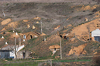 underground wine cellars , Pajares de los Oteros spain castile and leon