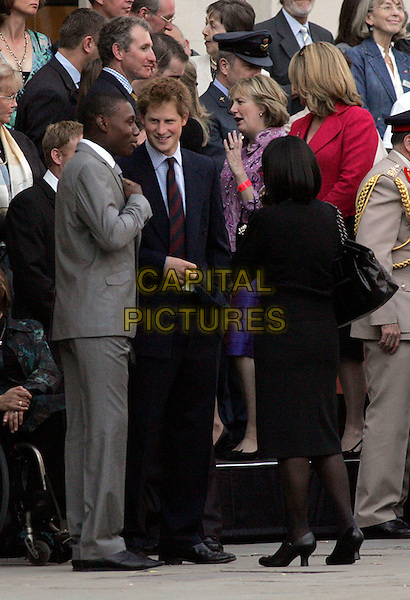 HRH PRINCE HARRY.Attends the City Salute Sunset Pageant, the event at which The City of London thanks British troops and their families for the sacrifices they make on their nation's behalf..St. Paul's Cathedral, London, England, UK, 7th May 2008..full length royal blue suit tie .CAP/CAS.©Bob Cass/Capital Pictures