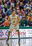 4 February 2014: University of Vermont Catamount Guard Josh Elbaum, a Senior from Melville, NY, in action against the University of Maine Black Bears at Patrick Gymnasium in Burlington, Vermont. The Cats defeated the Bears 93-65 improving to 9-1 in America East and 15-9 overall. Mandatory Credit: Ed Wolfstein Photo *** RAW (NEF) Image File Available ***