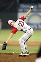 Lowell Spinners Pitcher Kyle Rutter (21) during a game vs. the Batavia Muckdogs at Dwyer Stadium in Batavia, New York July 14, 2010.   Batavia defeated Lowell 12-2.  Photo By Mike Janes/Four Seam Images