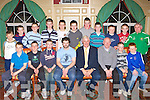 Castleisland Under 12 County League runners up team that received their trophies from Republic of Ireland legend Don Givens at the Castleisland AFC annual awards night in the River Island Hotel, Castleisland on Thursday night front row l-r: Paul Nelligan, Chris Kerley, Jack Cooney, Jason McCarthy Manager, Don Givens, John Kerley Coach, Sean Donoghue, Kevin Neligan. Back row: Shane McLoughlin, Daniel Doody, Cieran O'Sullivan, Cian O'Connor, Alan Browne, Jack Browne, Eamon Prenderville, Kevin Hannifan, Colm Murphy, Aaron Gallagher and Georgie O'Callaghan Coach