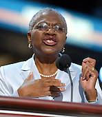 Boston, MA - July 29, 2004 -- C. Virginia Fields, Manhattan Borough President, New York, speaks to the 2004 Democratic National Convention in Boston, Massachusetts on July 29, 2004..Credit: Ron Sachs / CNP