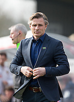Wycombe Wanderers Manager Gareth Ainsworth during the Sky Bet League 2 match between Wycombe Wanderers and Stevenage at Adams Park, High Wycombe, England on 12 March 2016. Photo by Andy Rowland/PRiME Media Images.