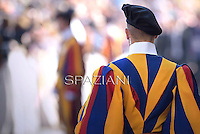 Pontifical Swiss Guard;Pope Francis during his weekly general audience in St. Peter square at the Vatican, Wednesday.October 8, 2014