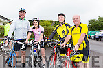 Enjoying the Castleisland Day Care Centre Charity Cycle conjunction with Currow Cycling Club on Sunday were l-r  Pa Walsh, Loretta Duggan, Marcus Cronin and Gerard O'Sullivan