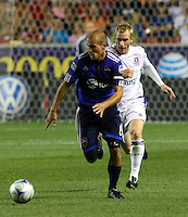 Freddie Ljungberg in the MLS All Stars v Everton 4-3 Everton win at Rio Tinto Stadium in Sandy, Utah on July 29, 2009