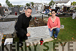 New memorial stone being unveiled in memory of babies by Kerry County Council in association with the Miscarriage Association of Ireland in Rath Cemetery on Saturday. Pictured Fr. Gerard O'Leary and Laura Freeman, Kerry County Council