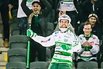 Stockholm 2015-03-14 Bandy SM-final herrar Sandvikens AIK - V&auml;ster&aring;s SK :  <br /> V&auml;ster&aring;s Jonas Nilsson jublar efter sitt 3-1 m&aring;l under matchen mellan Sandvikens AIK och V&auml;ster&aring;s SK <br /> (Foto: Kenta J&ouml;nsson) Nyckelord:  SM SM-final final Bandyfinal Bandyfinalen herr herrar VSK V&auml;ster&aring;s SAIK Sandviken jubel gl&auml;dje lycka glad happy