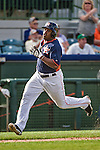 12 March 2014: Houston Astros outfielder Delino DeShields Jr. hustles to score the game tying run making it 9-9 in the bottom of the 9th inning of a Spring Training game against the Washington Nationals at Osceola County Stadium in Kissimmee, Florida. The Astros rallied in the bottom of the 9th to edge out the Nationals 10-9 in Grapefruit League play. Mandatory Credit: Ed Wolfstein Photo *** RAW (NEF) Image File Available ***