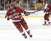 Rence Coassin (Harvard - 17) - The Boston University Terriers defeated the Harvard University Crimson 3-1 in the opening round of the 2012 Beanpot on Monday, February 6, 2012, at TD Garden in Boston, Massachusetts.