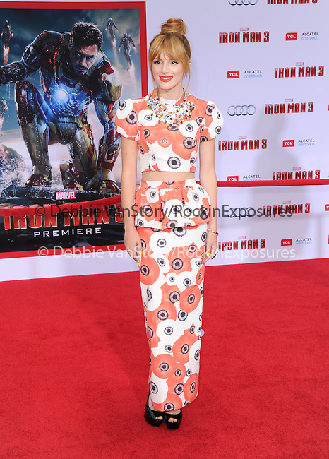 Bella Thorne at The World Premiere of Marvel's Iron Man 3 held at The El CapitanTheatre in Hollywood, California on April 24,2013                                                                   Copyright 2013 Hollywood Press Agency
