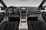 Stock photo of straight dashboard view of2015 Dodge Grand Caravan SXT PLUS 5 Door Minivan Dashboard