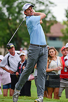 Webb Simpson (USA) watches his tee shot on 11 during round 4 of the Dean &amp; Deluca Invitational, at The Colonial, Ft. Worth, Texas, USA. 5/28/2017.<br /> Picture: Golffile | Ken Murray<br /> <br /> <br /> All photo usage must carry mandatory copyright credit (&copy; Golffile | Ken Murray)