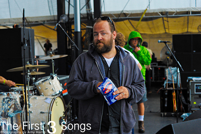 Eli Thomson of Everest performs at the 2012 Forecastle Festival in Louisville, Kentucky.