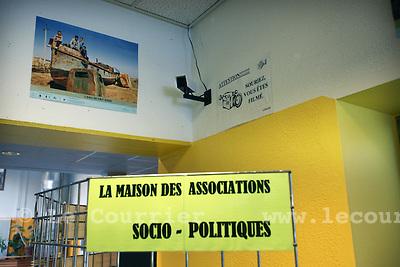Genève, le 26.08.2009.Camera de surveillance à la maison des associations..© Le Courrier / J.-P. Di Silvestro