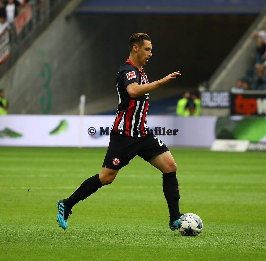 Dominik Kohr (Eintracht Frankfurt) - 01.09.2019: Eintracht Frankfurt vs. Fortuna Düsseldorf, Commerzbank Arena, 3. Spieltag<br /> DISCLAIMER: DFL regulations prohibit any use of photographs as image sequences and/or quasi-video.