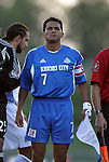 24 August 2004: Wizards captain Diego Gutierrez (7) before the game. The Kansas City Wizards defeated the San Jose Earthquakes 1-0 at Blue Valley District Athletic Complex in Overland Park, KS in a semifinal game in the 2004 Lamar Hunt U.S. Open Cup..