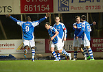 St Johnstone v Aberdeen.....30.01.13      SPL.Dave Mackay celebrates his goal.Picture by Graeme Hart..Copyright Perthshire Picture Agency.Tel: 01738 623350  Mobile: 07990 594431