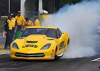 May 15, 2015; Commerce, GA, USA; NHRA pro mod driver Troy Coughlin Sr  during qualifying for the Southern Nationals at Atlanta Dragway. Mandatory Credit: Mark J. Rebilas-USA TODAY Sports