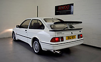 BNPS.co.uk (01202 558833)<br /> Pic: PPMMiltonKeynes/BNPS<br /> <br /> D reg with heritage...<br /> <br /> A pre-production prototype of the legendary Ford Sierra Cosworth RS500 has emerged for sale for a whopping £120,000.<br /> <br /> The RS500 was the road going version of Ford's iconic rally car with only 500 built in order to meet racing regulations.<br /> <br /> This one was the very first to be built in 1987 and in more recent times was road tested by Richard Hammond on the Grand Tour.