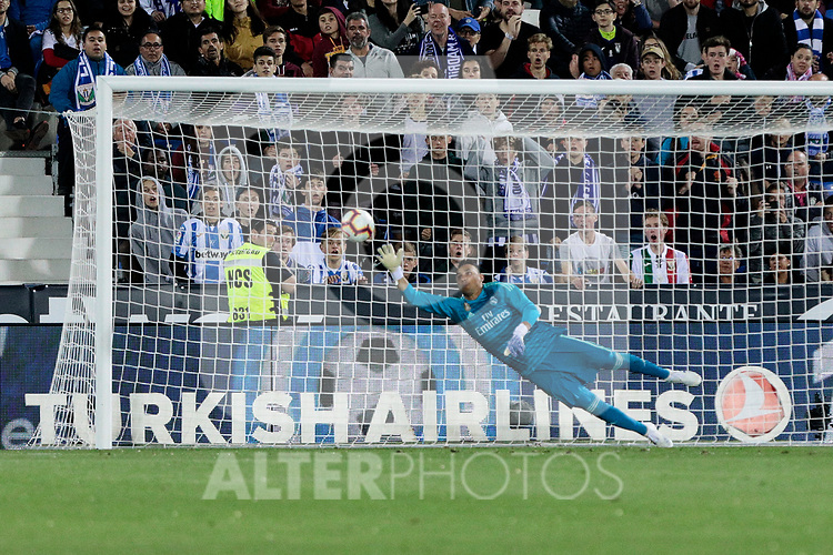 Real Madrid's Keylor Navas during La Liga match between CD Leganes and Real Madrid at Butarque Stadium in Leganes, Spain.April 15, 2019. (ALTERPHOTOS/A. Perez Meca)