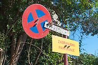 Traffic signage in the city of Pula, Istria County, Croatia