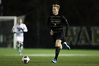 WINSTON-SALEM, NC - DECEMBER 07: Holland Rula #4 of Wake Forest University runs with the ball during a game between UC Santa Barbara and Wake Forest at W. Dennie Spry Stadium on December 07, 2019 in Winston-Salem, North Carolina.
