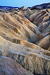 Badlland Features At Zabriskie Point, Death Valley National Park, California