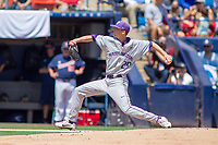 University of Washington Huskies Lucas Knowles (29) delivers a pitch to the plate against the Cal State Fullerton Titans at Goodwin Field on June 08, 2018 in Fullerton, California. The University of Washington Huskies defeated the Cal State Fullerton Titans 8-5. (Donn Parris/Four Seam Images)