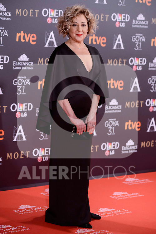 Carmen Machi attends to the Red Carpet of the Goya Awards 2017 at Madrid Marriott Auditorium Hotel in Madrid, Spain. February 04, 2017. (ALTERPHOTOS/BorjaB.Hojas)