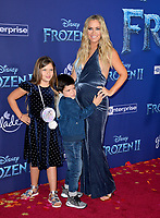 "LOS ANGELES, USA. November 08, 2019: Teddi Mellencamp, Slate Arroyave & Cruz Arroyave at the world premiere for Disney's ""Frozen 2"" at the Dolby Theatre.<br /> Picture: Paul Smith/Featureflash"