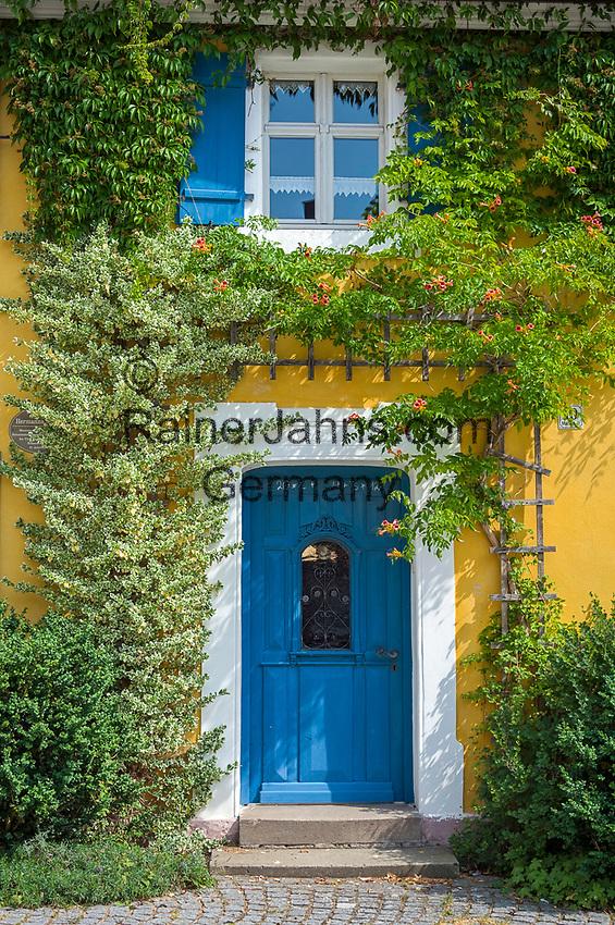 Deutschland, Bayern, Mittelfranken, Merkendorf: Hauseingang am Marktplatz | Germany, Bavaria, Middle Franconia, Merkendorf: entrance door at Market Square