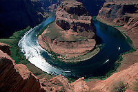 Aerial view of Horseshoe Bend, Colorado River, Page, Arizona