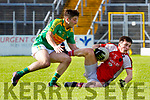 Paul Murphy Rathmore gets to the ball ahead of Paul O'Sullivan South Kerry during their SFC clash in Fitzgerald Stadium on Sunday