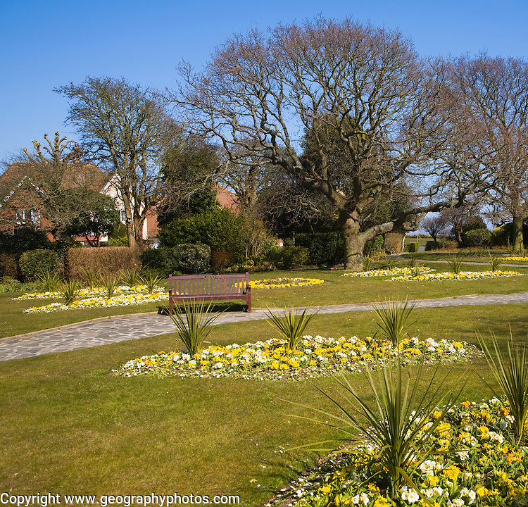 Crescent Gardens, Frinton on Sea Crescent Gardens in early spring, Frinton on Sea, Essex, England