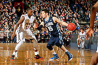 PHILADELPHIA - JANUARY 17: Ryan Arcidiacono #15 of the Villanova Wildcats dribbles the ball during a game against the Penn Quakers at the Palestra on the campus of the University of Pennsylvania on January 17, 2015 in Philadelphia, Pennsylvania. Villanova won 62-47. (Photo by Hunter Martin/Getty Images) *** Local Caption *** Ryan Arcidiacono